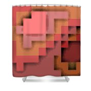 Cyberstructure 12 Shower Curtain by Eikoni Images