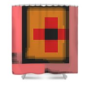 Cyberstructure 13 Shower Curtain by Eikoni Images