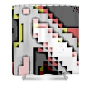Cyberstructure 14 Shower Curtain by Eikoni Images