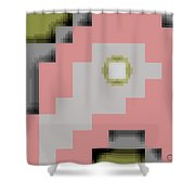 Cyberstructure 16 Shower Curtain by Eikoni Images