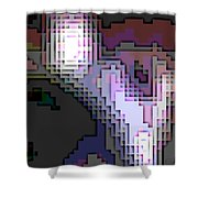 Cyberstructure 2 Shower Curtain by Eikoni Images