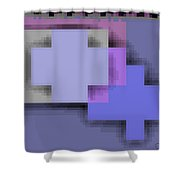 Cyberstructure 3 Shower Curtain by Eikoni Images