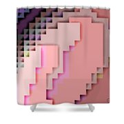 Cyberstructure 4 Shower Curtain by Eikoni Images