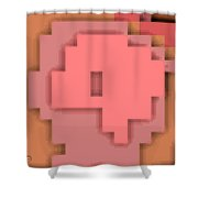Cyberstructure 7 Shower Curtain by Eikoni Images