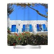 Cycladic Architecture - 4161 Shower Curtain