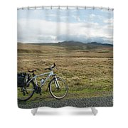 Cycle Across The Beacons Cycle Route. Shower Curtain