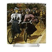 Cycling Fashions, 1895 Shower Curtain