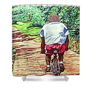 Cycling Home Shower Curtain