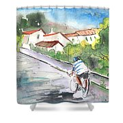 Cycling In Italy 01 Shower Curtain