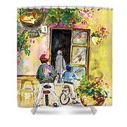 Cycling In Italy 04 Shower Curtain