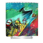 Cycling In Majorca 01 Shower Curtain