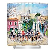 Cycling In Majorca 05 Shower Curtain