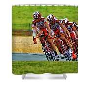Cycling Practice Shower Curtain