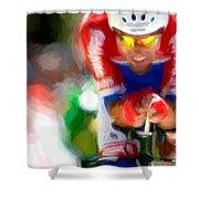 Cyclist Three Shower Curtain