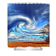 Cyclone Shower Curtain