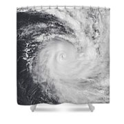 Cyclone Zoe In The South Pacific Ocean Shower Curtain