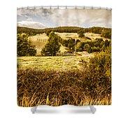Cygnet Rustic Farming Fields Shower Curtain