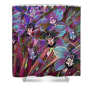 Cymbidium Carnival Shower Curtain