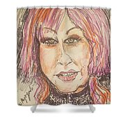 Cyndi Lauper Shower Curtain