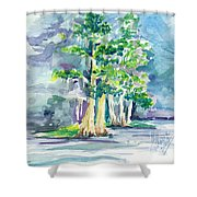 Cypress At San Pedro Center Shower Curtain