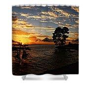 Cypress Bend Resort Sunset Shower Curtain