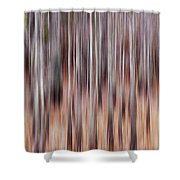 Cypress Grove Abstract Shower Curtain