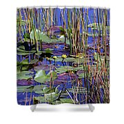 Cypress Pond Tranquility Shower Curtain