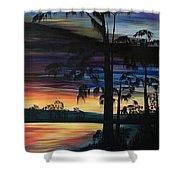 Cypress Sunset Shower Curtain