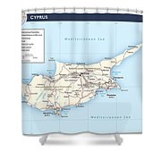 Cyprus 2 Shower Curtain