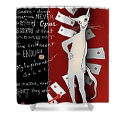 Cyrus The Xylophone Lover Shower Curtain
