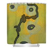 Cyto Yellow Shower Curtain