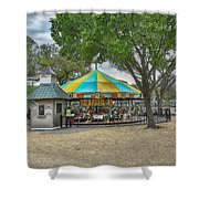 D C Carousel _ Hdr Shower Curtain