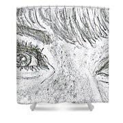 D D Eyes Shower Curtain by Carol Wisniewski