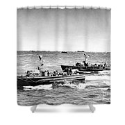 D-day 1944 Shower Curtain