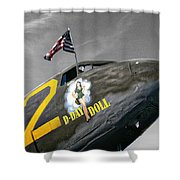 D Day Doll Shower Curtain