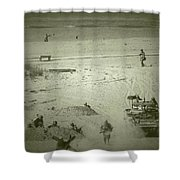 D-day Reenactment Shower Curtain