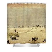 D-day Shower Curtain