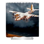 D-day Support Shower Curtain