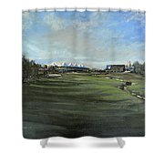 D P World Tour Championship - 18th Tee Shower Curtain