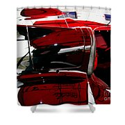 D Type Abstract Shower Curtain