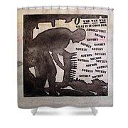 D U Rounds Project, Print 10 Shower Curtain