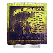 D U Rounds Project, Print 12 Shower Curtain