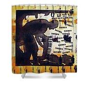 D U Rounds Project, Print 14 Shower Curtain