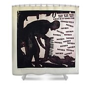 D U Rounds Project, Print 21 Shower Curtain