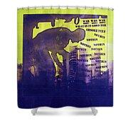 D U Rounds Project, Print 24 Shower Curtain