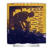 D U Rounds Project, Print 25 Shower Curtain