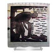 D U Rounds Project, Print 8 Shower Curtain