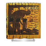 D U Rounds Project, Print 9 Shower Curtain