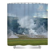 D09125 Steam Vents Near Midway Geyser Basin Shower Curtain