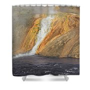 D09126 Outlet Of Midway Geyser Basin Shower Curtain